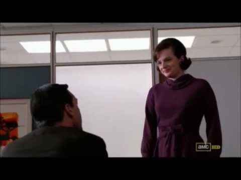 Mad Men - Peggy gives notice to Don Draper [Season 5]