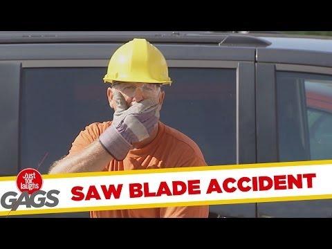 Saw Blade Flies Into Car
