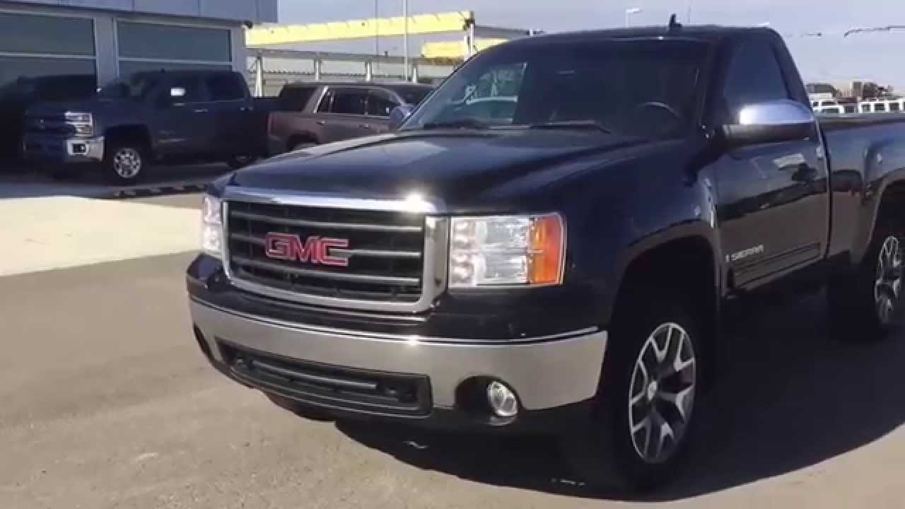 Gmc Sierra Truck >> Black 2008 GMC Sierra 1500 4WD REGULAR CAB STANDARD at Scougall Motors - YouTube