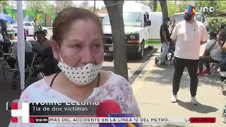 Familiares reconocen cuerpos de seres queridos por desplome en la Línea 12