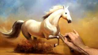 """Южаков урок 19 """"Пишем Коня"""" живопись маслом"""