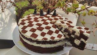 Удивительно нежный и оригинальный торт Шахматная доска