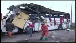 قتيلة وجرحى في انقلاب حافلة للركاب