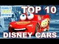TOP 10 Disney Cars - WHO IS THE BEST DISNEY CAR ? 10 Favorite Disney Cars List By Family Toy Review