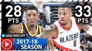 Damian Lillard vs Rookie Donovan Mitchell Duel Highlights (2017.11.01) Jazz vs Blazers - EPIC!