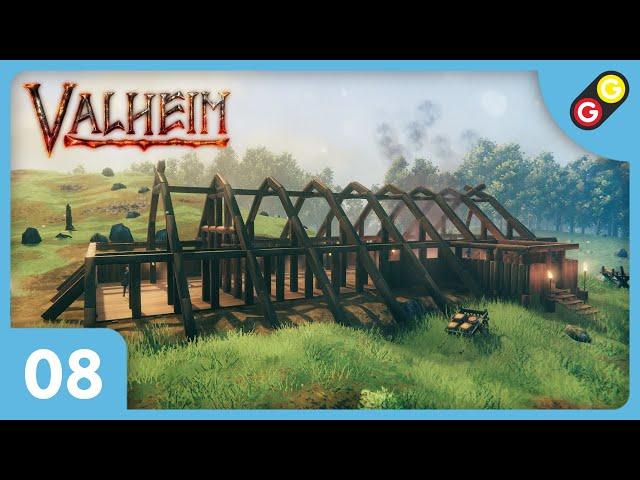 Valheim #08 Time-lapse : Skáli ! [FR]