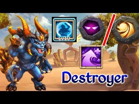 Destroyer | In Destroying Mode😅😅| 10 Bulwark | 10 Unholy/10 Sacred | Hyper Strength | Castle Clash