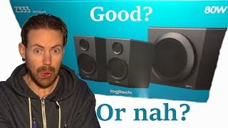 Logitech Z333 speaker unboxing + review