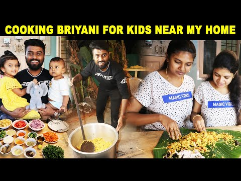 Cooking & Sharing Food with Kids Near our Home | Lockdown Sharing Food & Happiness