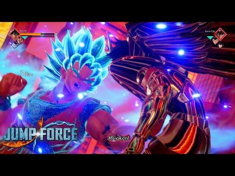 SUPER SAIYAN BLUE KAIOKEN GOKU FINISH In JUMP FORCE Online Beta!