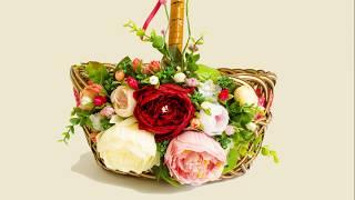 Пасхальная корзина с пионами\\ Easter basket with peonies