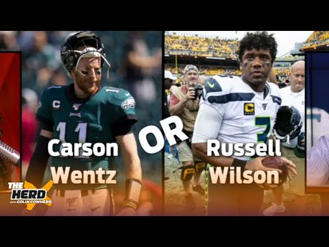 Colin plays 'Wentz or the Fence' and chooses which NFL QBs he'd pick over Carson Wentz | THE HERD