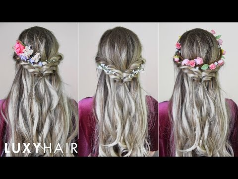 Easy Quick Hairstyle With Flowers Perfect For Spring Summer