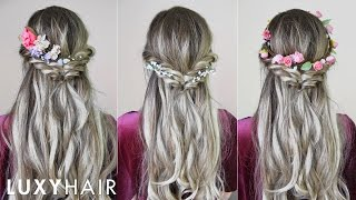 Video Easy & Quick Hairstyle With Flowers (Perfect For Spring & Summer) | Luxy Hair download MP3, 3GP, MP4, WEBM, AVI, FLV September 2018