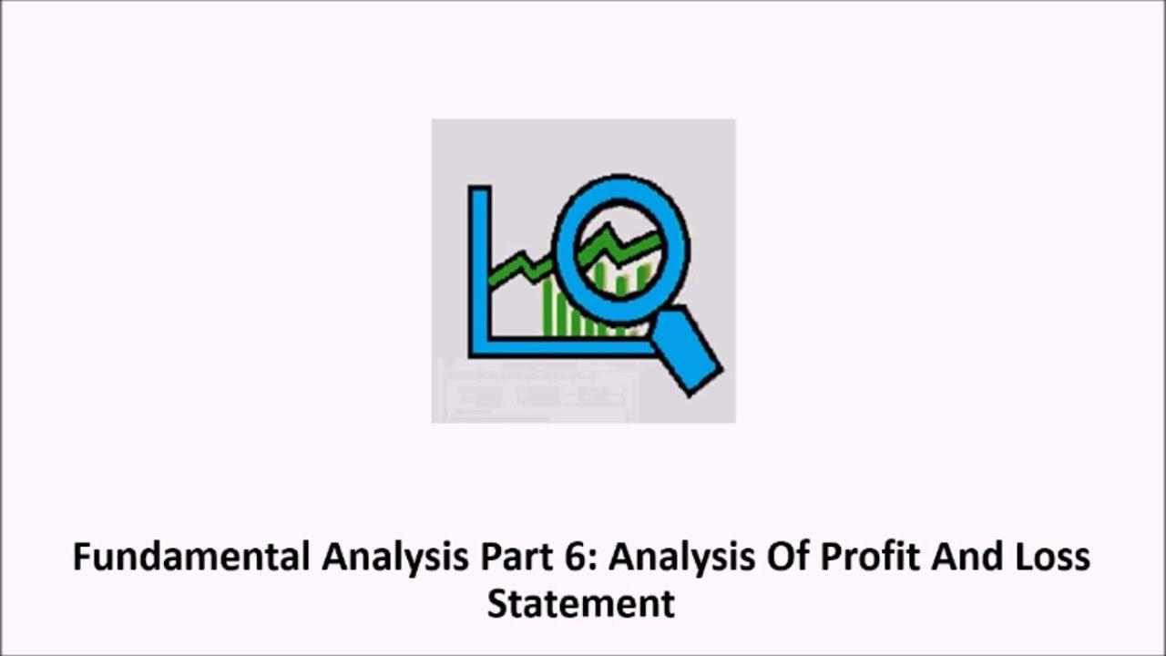 p l analysis