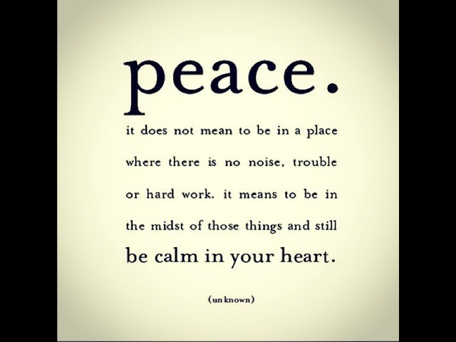 Practical ways of using and choosing Peace