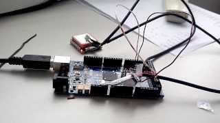 Probando gps en arduino (Arduino mega + em406a)