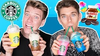 Tasting, Trying, & react, to EXTREME, Starbucks, Secret, Menu, Items!! THUMBS UP for our First Time Trying Coffee!! SNAPCHAT // CollinsKey or CLICK THIS ...