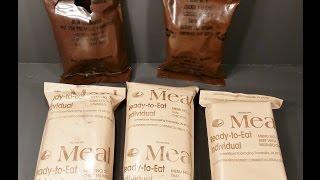 1985-2000 Vintage US MRE Review 5 MRE Marathon Part 1 Chicken Ala King & Freeze Dried Beef Patty