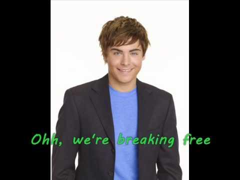 Troy und Gabriella - Breaking Free - Lyrics