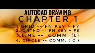 How to create Line, How to create Circle, How to Off ,On Grib and Ortho,cha 1st