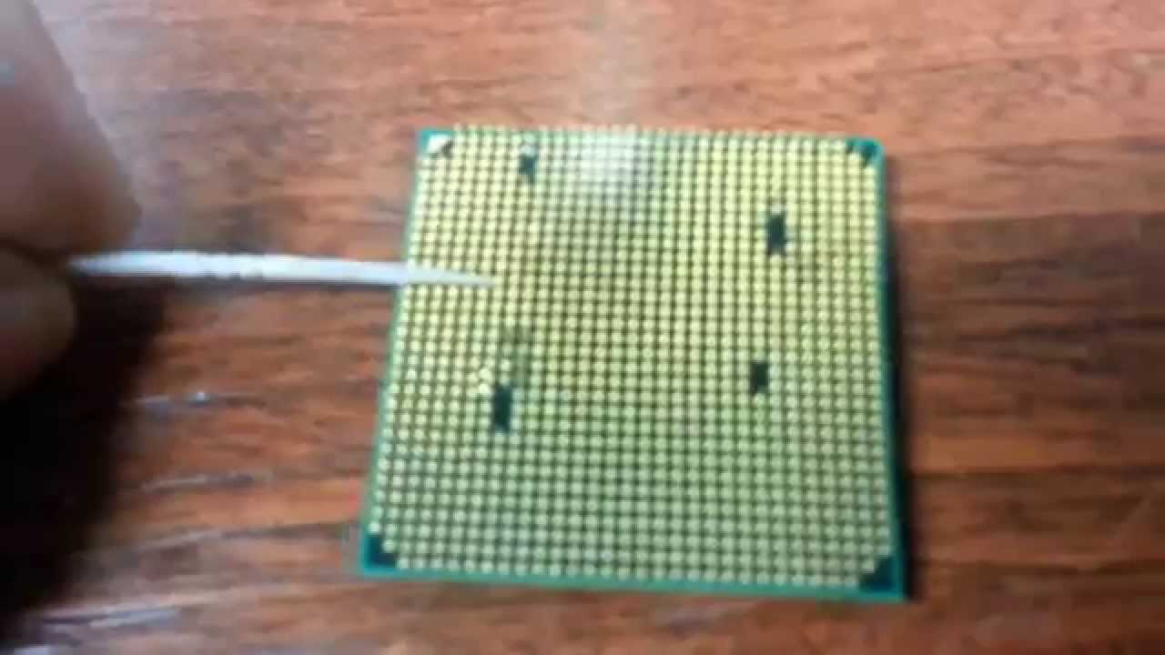 Straightening Out Amd Cpu Pins Youtube