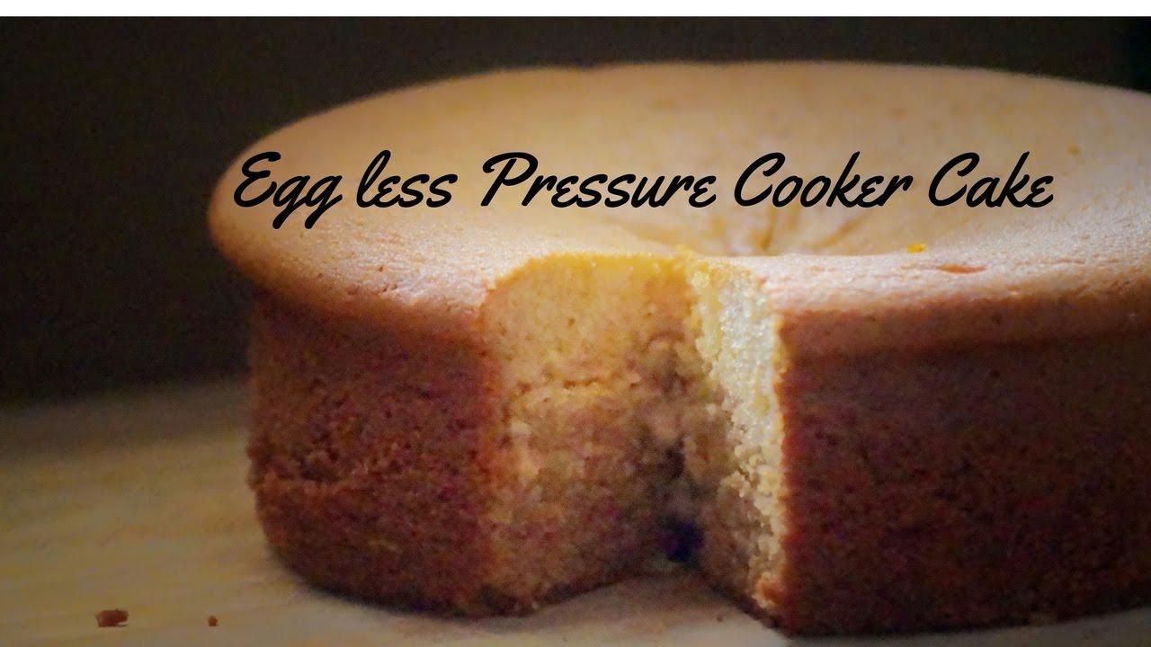 Eggless Cake Recipe In Pressure Cooker In Telugu: Eggless Pressure Cooker Cake Recipe(Eggless Vanilla Sponge