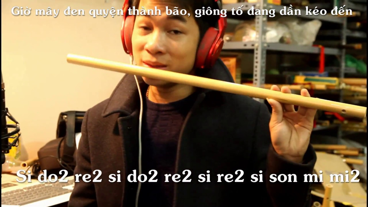 Học thổi sáo Em Gái Mưa - Hương Tràm - sáo trúc Mão Mèo