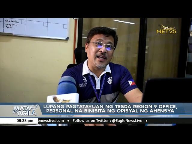 Lupang pagtatayuan ng TESDA Region 9 Office, personal na binisita ng opisyal ng ahensya