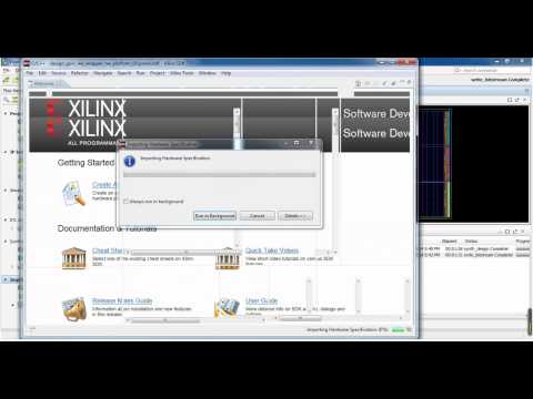 Xilinx Vivado Gpio LED Hello World Example - YouTube