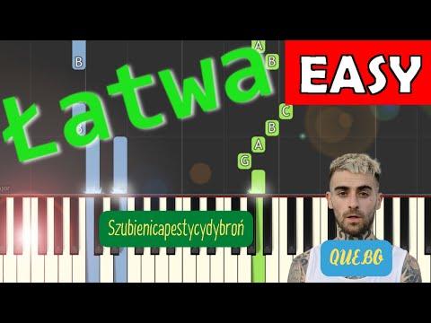 🎹 SZUBIENICAPESTYCYDYBROŃ (Quebonafide) - Piano Tutorial (łatwa wersja) 🎹