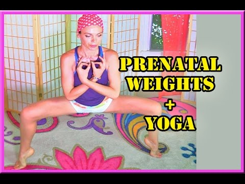 pregnancy yoga  weights barre bands breathing exercises