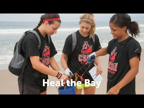 CSUN Student-Athletes Heal the Bay