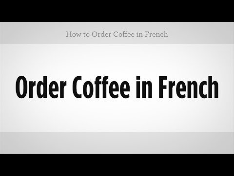 Do you want water in french