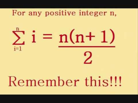Not More Maths for Dummies 1.1: Sigma notation