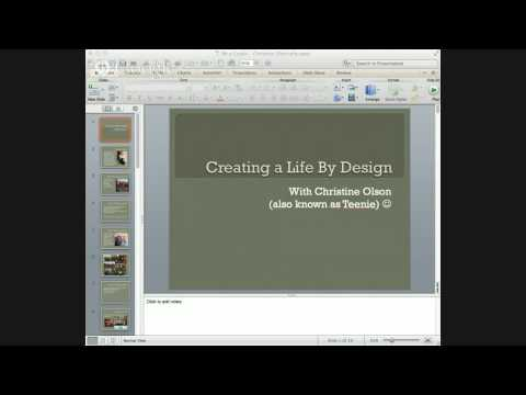 Creating a Life By Design, by Christine Olson