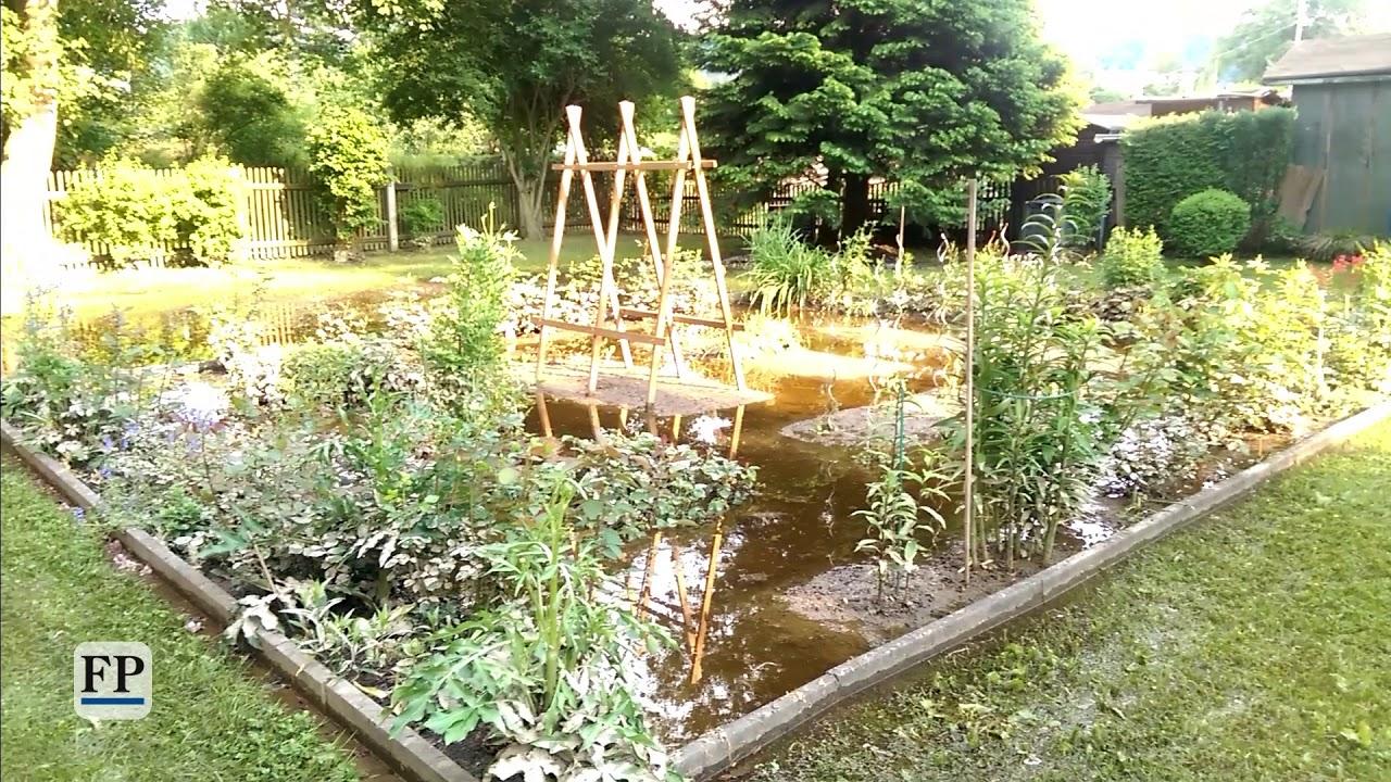 Gartenanlage in Elsterberg abgesoffen