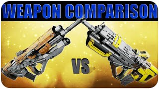 Destiny THE MESSENGER vs SPARE CHANGE.25 Legendary Pulse RIFLE Comparison
