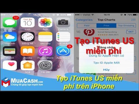 Cách tạo tài khoản Apple iTunes US miễn phí trên iPhone | MuaCash