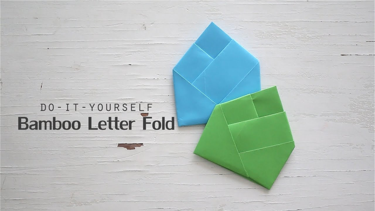 Origami bamboo letterfold folding instructions - Diy Bamboo Letter Fold
