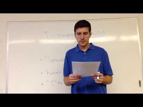 BI500--Discourse Analysis