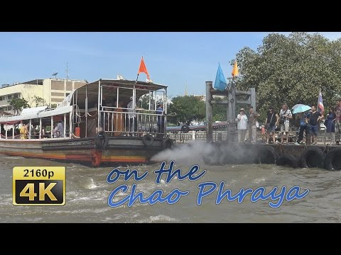 With the express boat on the Chao Phraya River in Bangkok - Thailand 4K Travel Channel