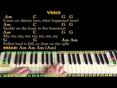 Piano skinny love piano tabs : Skinny Love (Bon Ivers) Piano Cover Lesson with Chords/Lyrics ...
