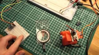 Digital compass HMC5883 and Servo