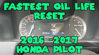 Oil light reset 2016 2017 Honda pilot