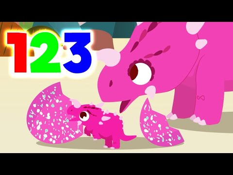 Learn To Count With Dinosaurs|Animals For Kids|Home Learning|Early Education|Toddler Fun Learning