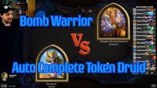 Auto-Complete Token Druid vs Bomb Warrior | Hearthstone