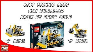 LEGO Technic 8259 Mini Bulldozer - Brick by Brick Build