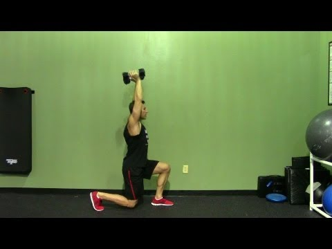 Overhead Lunge - HASfit Lunge Exercise Demonstration - Dumbbell Lunge - Lunge Workout