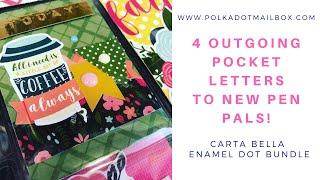 Sending 4 NEW PEN PALS Camp Snail Mail 2019 Pocket Letters